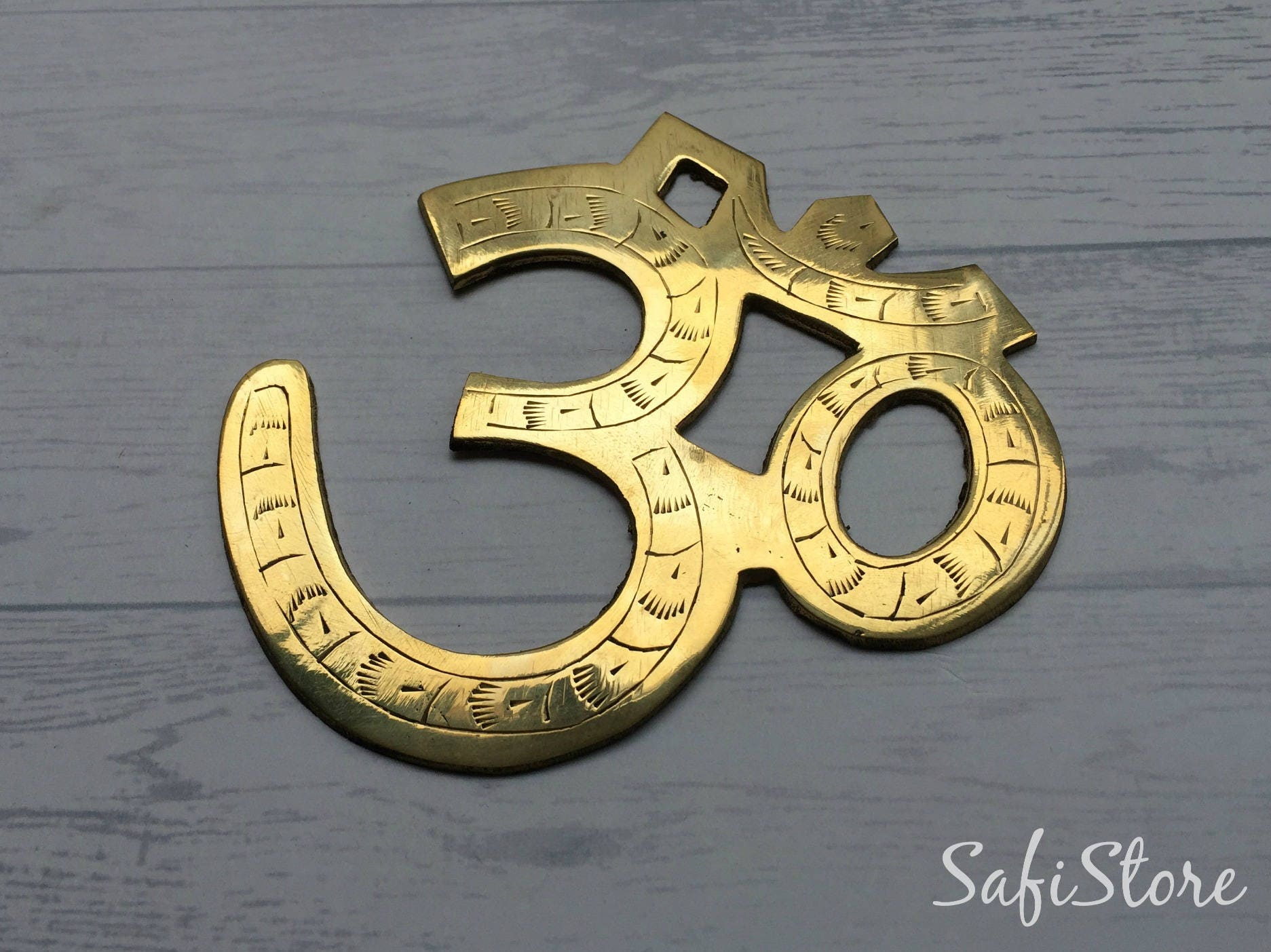 Solid Brass Om / Aum ? Wall Door Decorative Hanging / Hindu Mantra ...