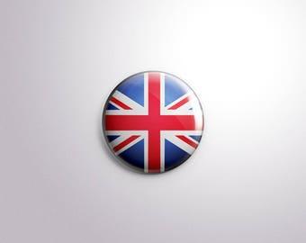 UK FLAG - pins / buttons / magnets - United Kingdom