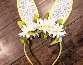 Bunny ears, easter headband, bunny headband, easter ears
