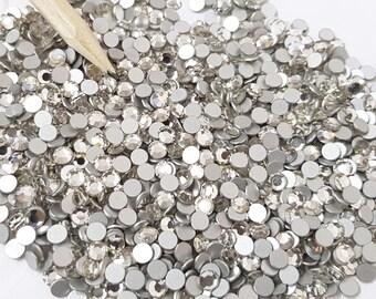 SS19 Clear Crystal Swarovski Round Rhinestone Flat Back Crystals (4.6mm) x50pcs