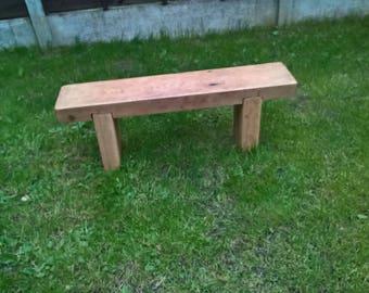 solid oak plank love bench 2 seater 100% solid oak