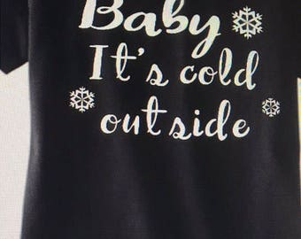 Baby its cold outside/kids/tee/raglan
