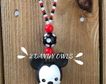 Mickey Mouse Rear View Mirror Car Charm