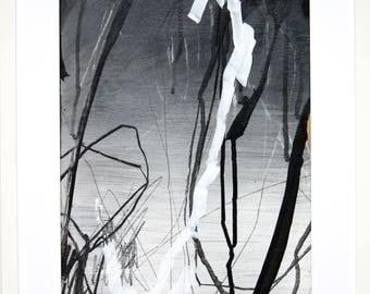 Original abstract illustration, no. 0645, mixed media on paper, 35x50cm. 2017