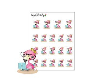 Planner Stickers Flamingo Laptop