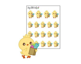 Planner Stickers Chick Grocery Shopping