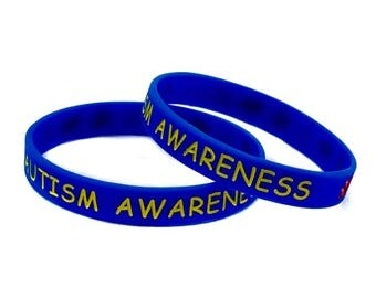 Autism Awareness Silicon Wristbands (2 pcs)
