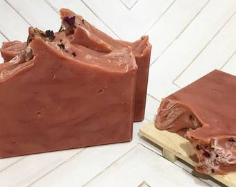 Wild Hibiscus Prosecco | Handcrafted Artisan Soap | Cocktail Collection | Palm Free | Cold Process | Luxury Soap | Gift for Her