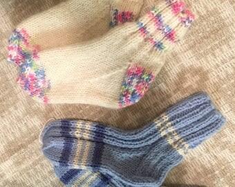 Knitted kids socks