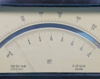 Rare Giant Analog Arrow Indicator MSZ Radelkis | Industrial Measuring Devices | Steampunk Retro Accessory | Electrical Measuring Instrument