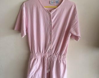 Vintage 90s pink romper