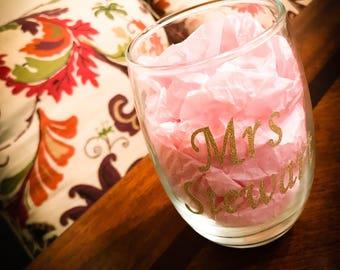 Custom Stemless Wine Glass