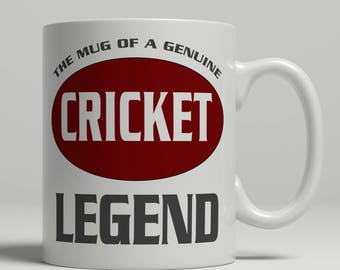 Cricket mug, Cricket gift, cricket player gift, cricket coach mug, cricket gift idea, cricket legend mug, cricket coffee mug, EB cricket