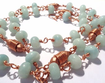 Copper and Amazonian technical wire necklace