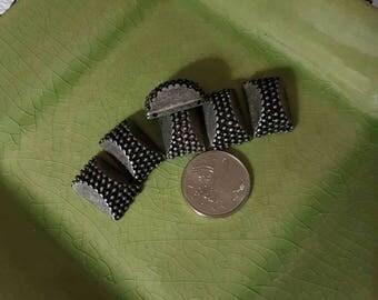 Connector beads silver destash lot