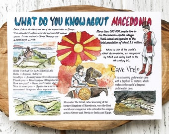 """Postcard """"What do you know about Macedonia"""""""