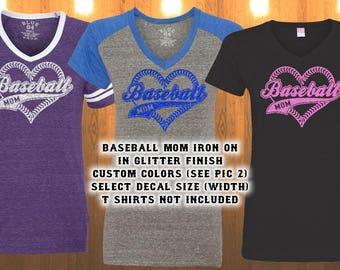 Baseball Mom Iron on transfer glitter vinyl only