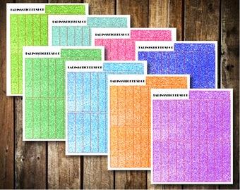 BUNDLE! 21 Glitter Headers - Fits Erin Condren Vertical & Happy Planner