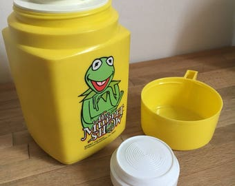 Vintage The Muppets Kermit The Frog Thermos Toughneck Flask 1980 - Jim Henson
