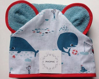 Hooded towel with ears - PICPIC - owls for moments chic ideas