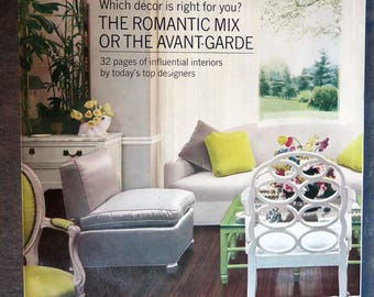 House Beautiful October 1968 Magazine - The Romantic Mix issue