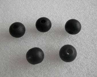 Natural wooden black bead