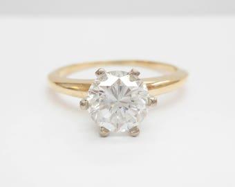 Diamond Ring, Engagement Ring, Solitaire Ring, Diamond, JABEL 18k Yellow Gold 1.05 Carat Round Diamond Solitaire Engagement Ring #3846
