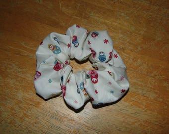 Hair ruffle / scrunchie Russian Babushka Matryoshka dolls