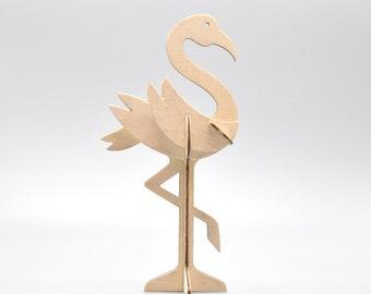 kleine houten flamingo Floor