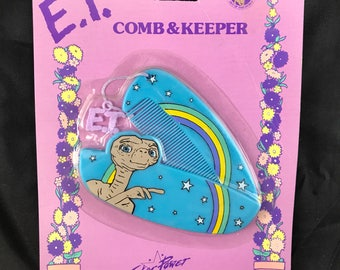 Rare, 1982 E.T. Comb & Keeper. Featuring E.T. The Extra Terrestrial. MOC By Star Power.