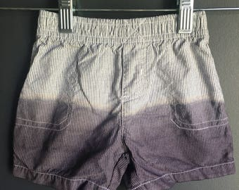 12 month stripped shorts, dipped dyed to give a ombre effect