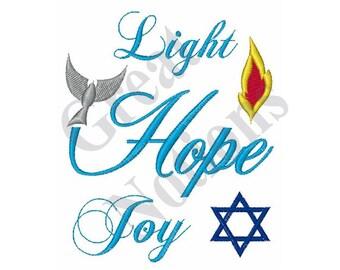 Light Hope Joy - Machine Embroidery Design