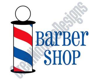 Barber Shop SVG - HTV - Vinyl Cutting Graphic Art