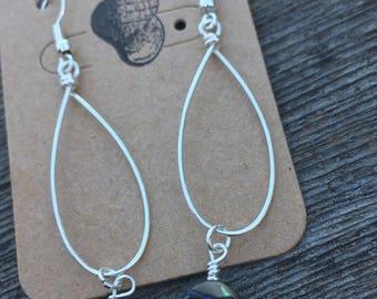 Abalone Tear Drop Earrings