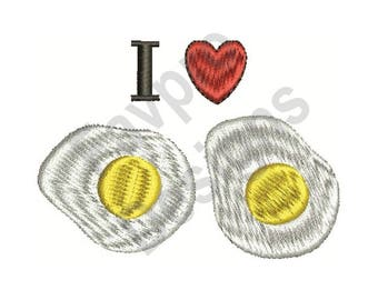 I Love Eggs - Machine Embroidery Design