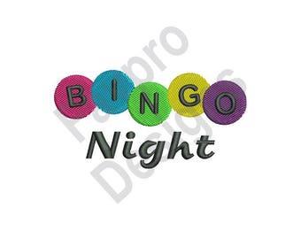 Bingo Night - Machine Embroidery Design