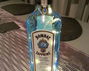 Bombay sapphire Gin lights in a bottle.