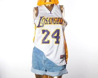 NBA jersey•Los Angeles jersey•Basketball jersey•MJ Team•Kobe Bryant jersey•Vintage jersey•Swag top•90s hip hop clothing•90s top•90s jersey