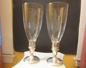 Hamilton sterling silver candle sticks holder