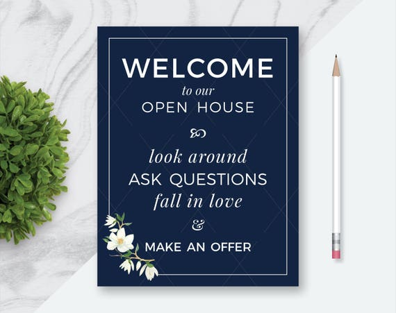 Comprehensive image throughout welcome to our open house printable