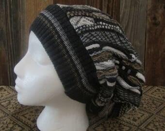 Neutral Textured Slouchy Hat
