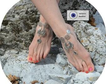ON SALE 25%off Footless Sandals- Beach Wedding Sandals- Bridal Barefoot Sandals- Foot Jewelry- Barefoot Wedding- Cheap Bridesmaids Gift- Boh