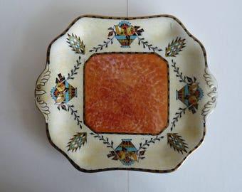 Hand painted Grimwades Art Deco 'Saxon' plate