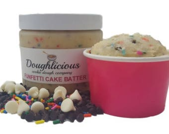 Funfetti Cake Batter Cookie Dough - 12oz. Jar of Edible Cookie Dough - Gourmet Edible Cookie Dough