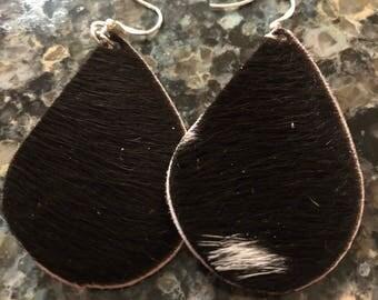 Authentic Cowhide Earrings