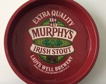 Vintage Murphy's Metal Drinks Tray / Barware / Irish Stout / Drinkware / Beer / Alcohol / Lady's Well Brewery