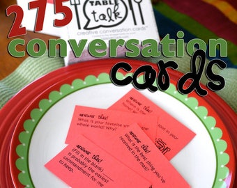 Table Talk Cards | 275 Conversation Starters | Creative Conversation Cards in a Box | LDS Convo Cards