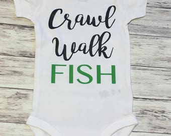 Fishing Onesie- Fishing Gear- Baby Clothes- Custom Onesie - Baby Shower Gift- boy onesie -Boy clothes