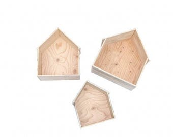 Set of 3 wall houses