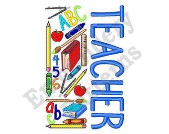Teacher - Machine Embroidery Design